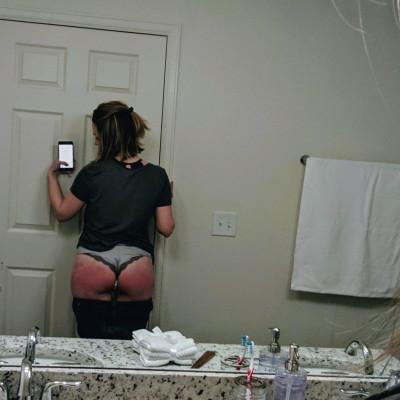 self spanking selfie