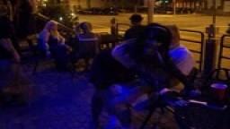 Public birthday spanking