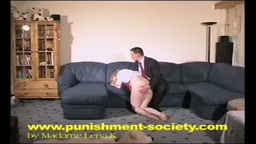 Spanking my lazy wife