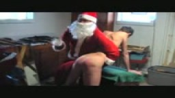 Santa spanks Steve down Bill's basement