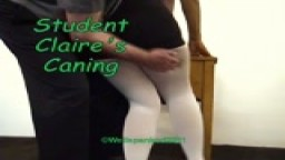 Student Claire's Caning - from Wellspanked