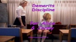 Demerits Discipline - Alice & Jenny from Wellspanked