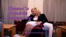 Emma's Double Jeopardy - from wellspanked