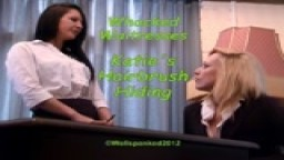 Whacked Waitresses - Katie's Hairbrush Hiding - from Wellspanked