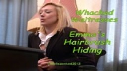 Whacked Waitresses - Emma's Hairbrush Hiding - from Wellspanked