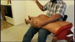 Over My knee spanking for not paying her bills 2