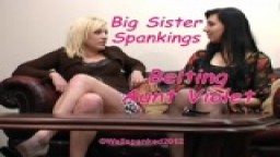 Big Sister Spankings - Belting Aunt Violet - from Wellspanked