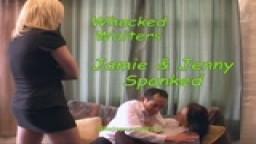 Whacked Waiters - Jamie & Jenny Spanked