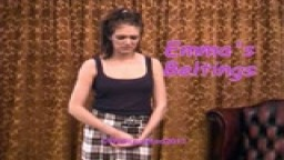 Emma's Beltings - breaking curfew - from Wellspanked