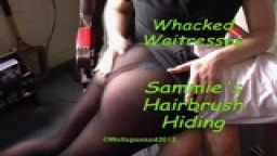 Whacked Waitresses - Sammie's Hairbrush Hiding - from Wellspanked