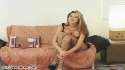 Exotic women gets spanked by pissed off blonde