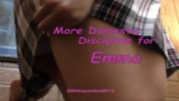 More Domestic Discipline for Emma - from Wellspanked