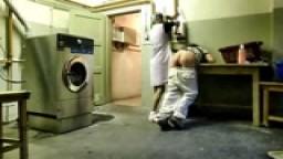 Haue im Waschraum