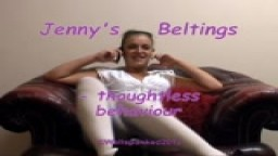 Jenny's Beltings - thoughtless behaviour - from Wellspanked