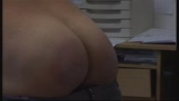 Slipper spanking in the office