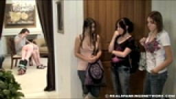 Girl punished in front of friends