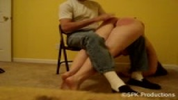 Princess Kelley's First Filmed Spanking