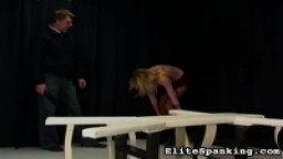 Skinny school girl gets bound and paddled - ES