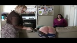 John's Reenactment Spanking Session with Lily Starr & Mya Rose - January 2013