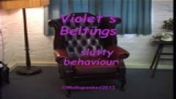 Violet's Beltings - slutty behaviour - from Wellspanked