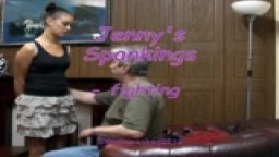 Jenny's Spankings - fighting - from Wellspanked