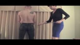 Dana Kane with Cane-Iac's Spanking Whip