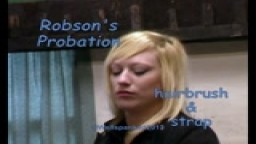 Robson's Probation - hairbrush & strap - from Wellspanked