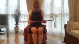 Caning Demo 50 Hard Strokes Part 1
