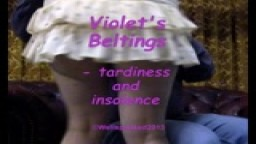 Violet's Beltings - tardiness and insolence - from Wellspanked