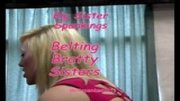 Domestic Discipline - Belting Bratty Sisters - from Wellspanked