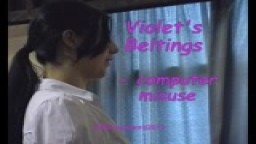 Violet's Beltings - computer misuse - from Wellspanked