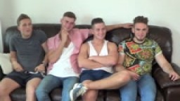 Four Str8 lads interviewd for new Spanking Movie!