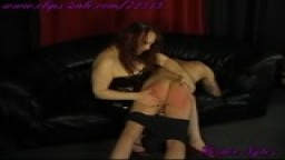 Heidee Spanks a Bratty Sub