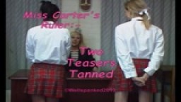 Miss Carter's Ruler - Two Teasers Tanned from Wellspanked
