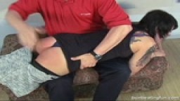 Spanking a hot tempered princess !