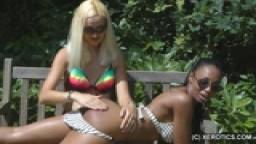 Bikini Spank Off - Spanking Online