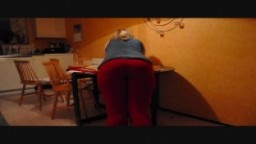 Spanking over the kitchen table