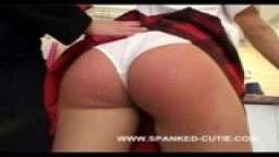 Kitchen Spanking - Spanked Cutie