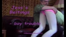 Jess's Beltings - boy trouble - from Wellspanked