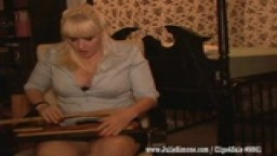 MIstress Julie Simone Spanking Threat POV sample