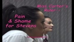 Miss Carter's Ruler - Pain & Shame for Stevens - from Wellspanked