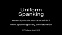 Uniform Spanking 02 from Wellspanked