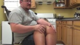 Sara Jane Spanked in the Kitchen