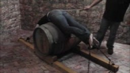 Punished Over a Barrel