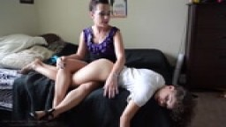 Bailey Paige gets a good old fashioned OTK from Mom