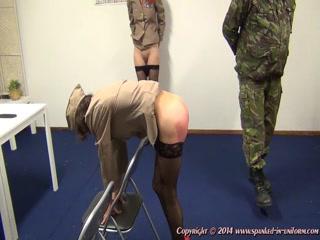 Marine Disziplin klassische Tracht Prügel, Ihr Sperma xxx