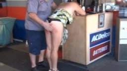 Naughty Mechanic - Public Spanking