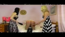 30 second Double Domme Spanking Preview