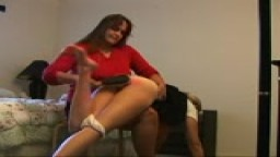 Forceful spanking with with hair brush