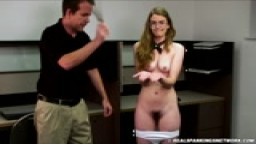 Bare bottom spanking, hand strapping, mouth soaping
